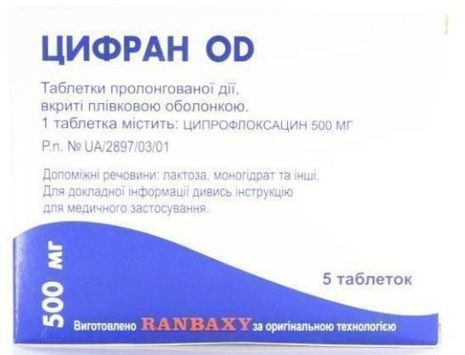 add.ua-Ranbaxy (Индия)-Цифран ОD 500 мг таблетки №5-32