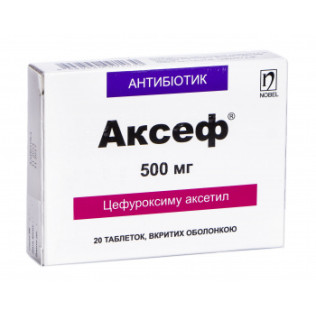 add.ua-Nobel (Туреччина)-Аксеф 500 мг таблетки №20-20